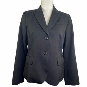 Pendleton Wool Blazer Career Suit Jacket Black 12P